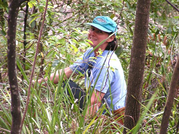 GCC Bushcare Officer, Kate Consterdine