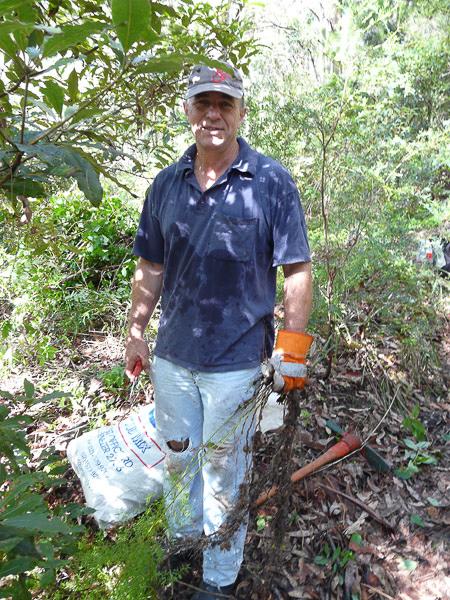 Volunteer in Wagstaffe Bushland