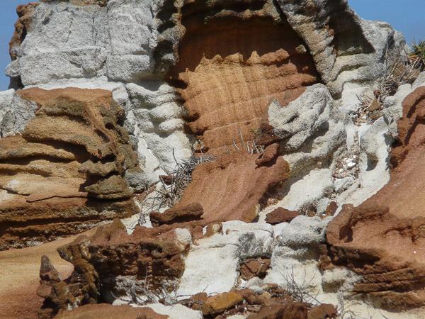 Fascinating White and Brown Sandstone Landform, Bouddi Peninsula